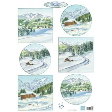IT599 Arkusz A4 -Marianne Design - Winter Landscape 1