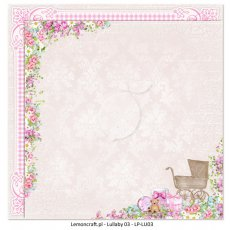 LP-LU03 Dwustronny papier do scrapbookingu - Lullaby 03 30x30cm