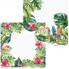 p13-271 Papier Let\'s flamingle 02, 12x12""