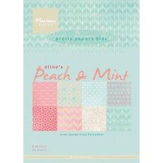 PB7047 Zestaw papierów A5- Eline's Peach& Mint