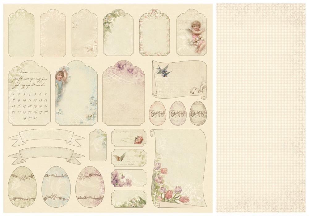 Шаблоны в стиле скрапбукинга для открыток