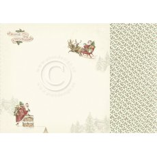 PD20001 Papier dwustronny 30,5x30,5cm -Let`s be Jolly- Santa Claus is coming
