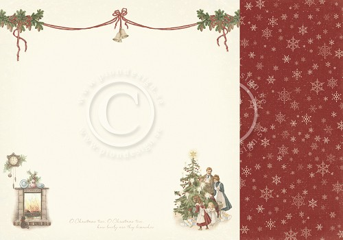 PD20002 Papier dwustronny 30,5x30,5cm -Let`s be Jolly- Christmas eve