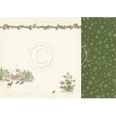 PD20003 Papier dwustronny 30,5x30,5cm -Let`s be Jolly- winter wonderland