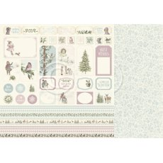 PD22012 Papier dwustronny 30,5x30,5cm -Winter Wonderland-Cut outs