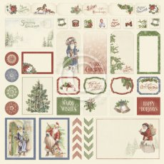 PD30015 Papier jednostronny 30,5x30,5cm  - Cut outs I -A Christmas to remember