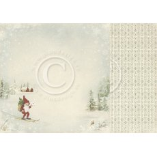 PD3806 Papier dwustronny-Nisse - Wintertime in Swedish Lapland