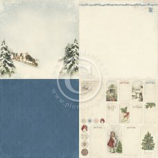 PD3901 Papier jednostronny -Sleigh ride - Wintertime in Swedish Lapland - 6x6