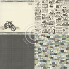 PD7501 Papier jednostronny- Mister Tom\'s Treasures - 6x6-Tom\'s Motorcycle