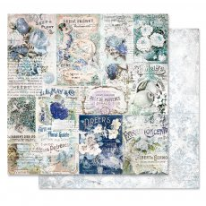 PM848927 Papier dwustronny metaliczny 30,5x30,5cm - Georgia Blues - Memory Lane