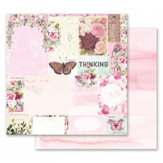 PM849306 Papier dwustronny metaliczny 30,5x30,5cm - Misty Rose - Their Words for Each Other