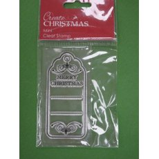 PMA907002-1 STEMPEL Docrafts -tag Merry Christmas