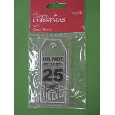 "PMA907002-3 STEMPEL Docrafts - zawieszka ""DO NOT OPEN UNTIL 25TH"""