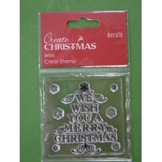 "PMA907002-6 STEMPEL Docrafts - ""WE WISH YOU A MERRY CHRISTMAS"""