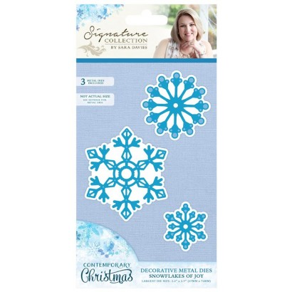 S-CX-MD-SJOY Wykrojniki  Sara Signature Contemporary Christmas Collection-Snowflakes of Joy