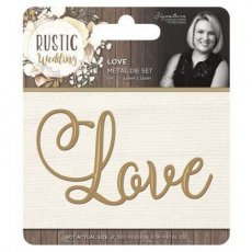 S-RW-MD-LOVE Wykrojnik Rustic Wedding -Love