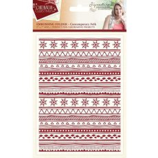S-SX-EF-CF Folder do embossingu Scandinavian Christmas- Cont.Folk