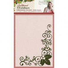 S-TX-EF5-HCOR Folder do embossingu Traditional Christmas Collection - Holly Corner