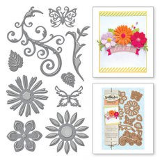 S5-143 Wykrojniki Spellbinders-Jewel Flowers And Flourishes
