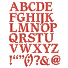 S6-009  Font One - Uppercase