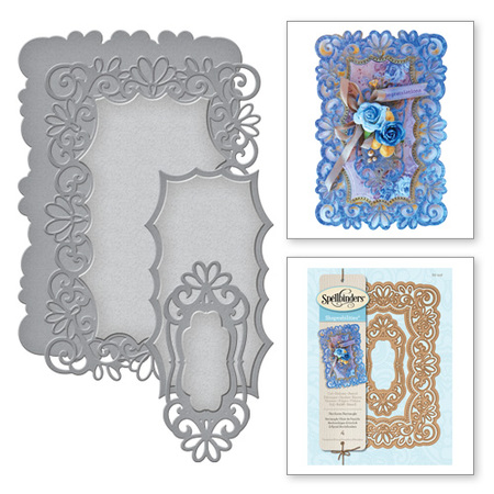 S6-016 Wykrojniki Spellbinders-Heirloom Rectangle