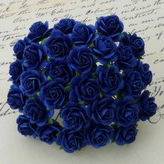 SAA-021-15 Różyczki royal blue-granat- 15 mm