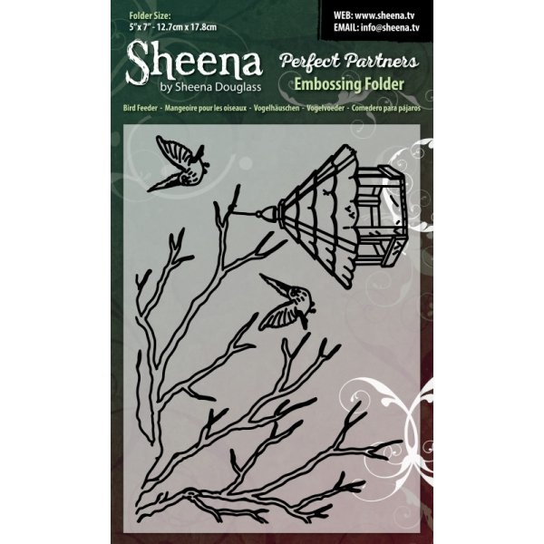 SD-PPEF-BIRD Bird Feeder Folder do embossingu - Sheena by Sheena Douglas