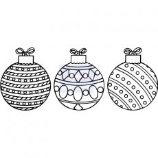 SDCSA6197 Stempel silikonowy Sweet Dixie - Funky Baubles-bombki