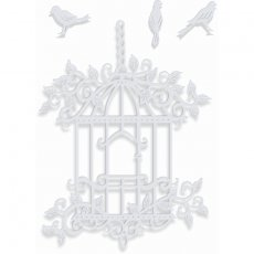 SDD381 Wykrojnik Sweet Dixie- Decorative Bird Cage-ptaszki i klatka
