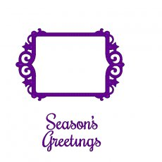 SDDCS001 Wykrojnik i stempel Sweet Dixi-ramka Season Greetings