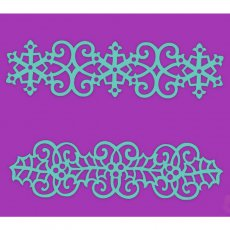 SDST0035 Maska Sweet Dixie - Swirling Holly & Snowflake Border
