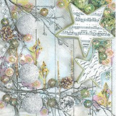 SERW072 Serwetka do decoupage\'u 33x33cm