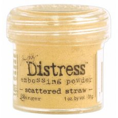 TIM22923 Puder do embossingu Ranger Distress-scattered straw