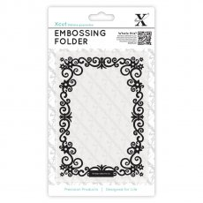 XCU515127 Folder do embossingu - A6 Floral Frame-kwiatowa ramka