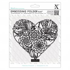 XCU515210 Folder do embossingu 15x15-Floral Heart-kwiatowe serce