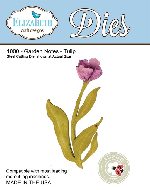 1000 Wykrojniki Elizabeth Craft Designs -  Garden Notes - Tulips