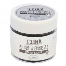 10192 Puder do embossingu Izink 3D - Relief Silver