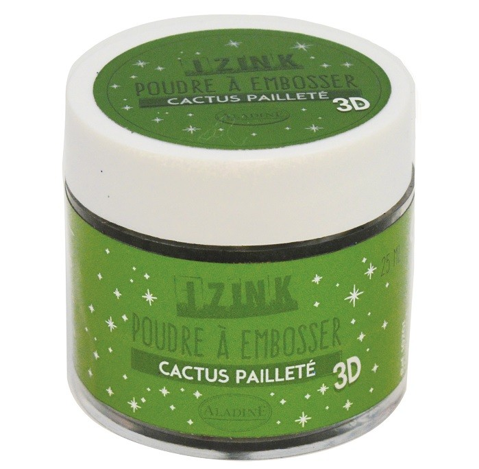 10201 Puder do embossingu brokatowy Izink 3D - Cactus Paillete