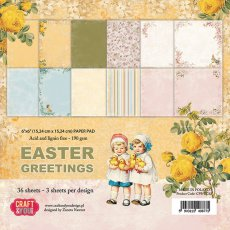 """CP-EG15 Bloczek papierów 6x6"""" Easter Greetings"""