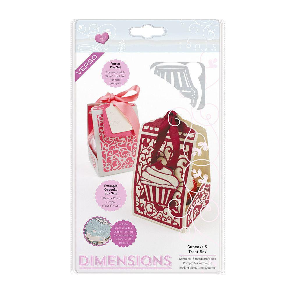 1652E Wykrojniki Dimensions - Cupcake & Treat Box Die Set -pudełko