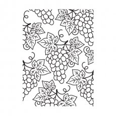 30008383 Embossing Folder Darice - Grape Clusters -winogrona