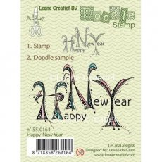 55.0164 Doodle - stempel Happy New Year
