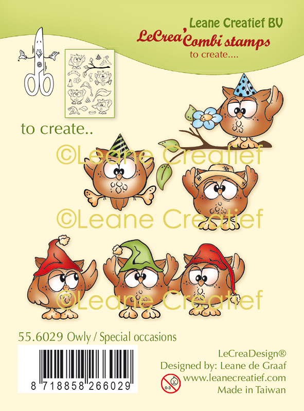 55.6029 Stemple Leane Creatief -sowy - owly special occassions