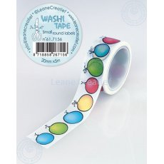 61.7156 Washi tape small round Labels 20mm x 5m - urodziny, balony