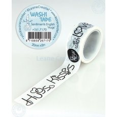 "61.7170 Washi tape Sentiments English ""Hugs"" 20mm x 5m - taśma napisy hugs"