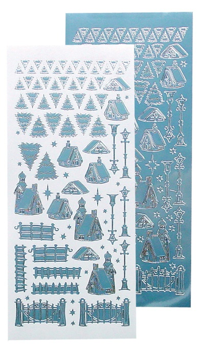 61.8473 Naklejki peel-off Winter Scenery Stickers Mirror Ice Blue