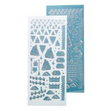 61.8497 Naklejki peel-off Winter Scenery Stickers Mirror Ice Blue