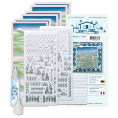 61.8534 Zestaw do wykonania kartek -Winter Decoration Snow Sticker Set
