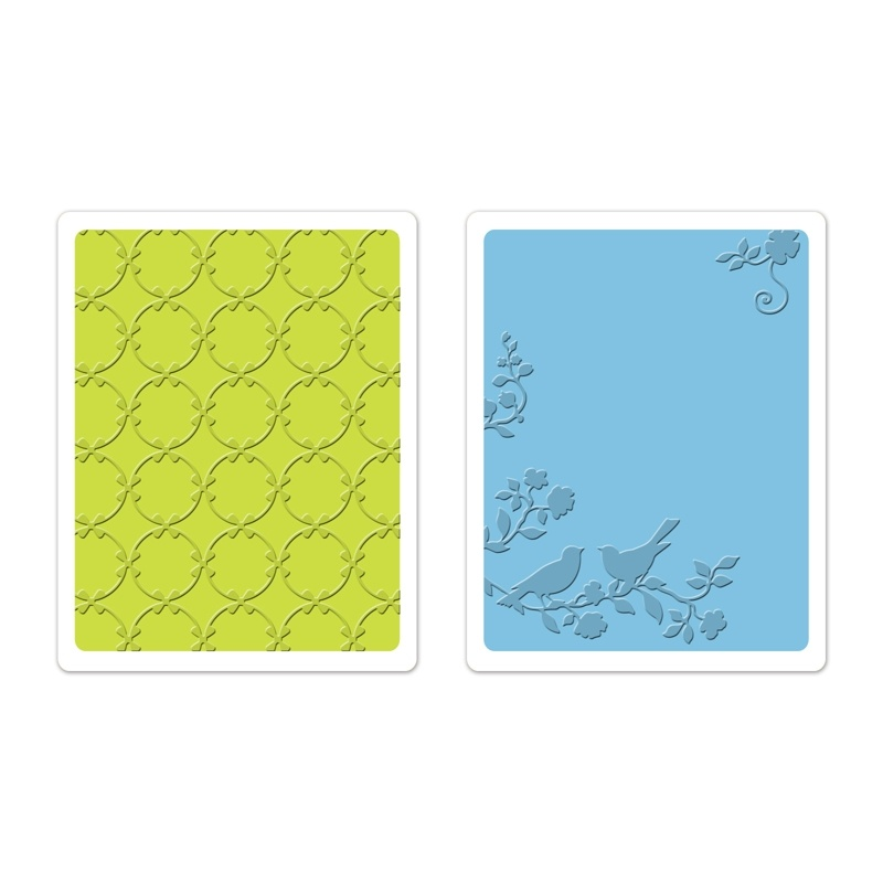 659629 Foldery do embossingu 2 szt- Songbirds & Lattice Set