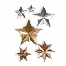 661595 Sizzix Thinlits Die Set 6PK - Dimensional Stars